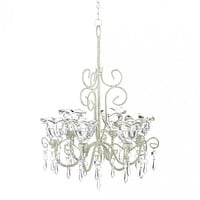 Crystal Blooms Candle Chandelier