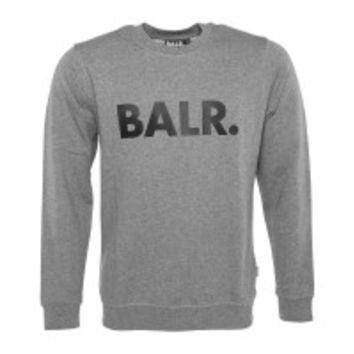 Brand Crew Neck Sweater Grey - BALR.