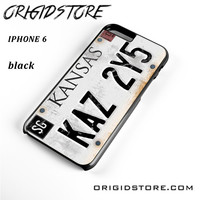 Personalized Vintage Supernatural License Plate Number For Iphone 6 Case UY