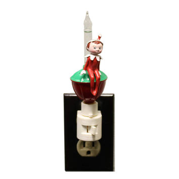 Christmas ELF ON THE SHELF BUBBLE NIGHT LIGHT Plastic Swivel Base 35175