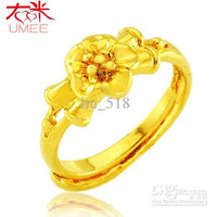18k gold plated ring Ms. Ring can adjust the size of the opening