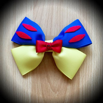 Snow White Character Inspired Disney Princess Hair Bow
