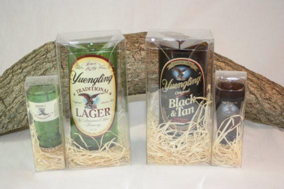 Yuengling Gift Set, Yuengling Shot Glass, Yuengling Drinking Glass, Upcycled Beer Bott