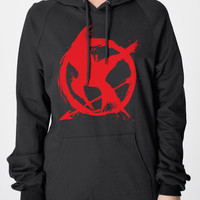 Mockingjay Rebellion Graffiti Heavyweight Hoodie Sweatshirt