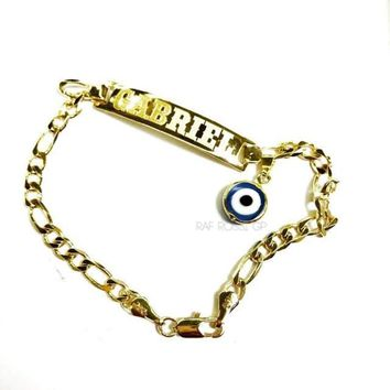 Personalized Id Bracelet 18kts of Gold Plated