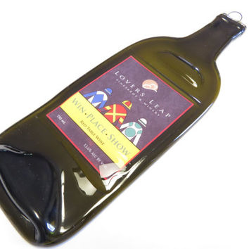 Lover's Leap Vinyards Win Place or Show Red Wine Slumped Bottle