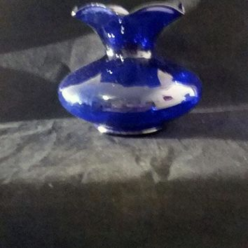Cobalt Blue Colored Glass Vase