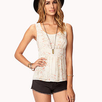 Whimsical Blossom Georgette Tank