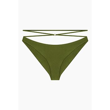 Balance Criss Cross Strappy Hipster Bikini Bottom - Eden Green