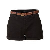 Stretchy Casual Twill Shorts with Belt (CLEARANCE)