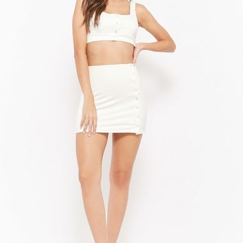 Cropped Tank Top & Mini Skirt Set
