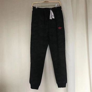 ESBON Adidas Fashion Women Camo Black Casual Sport Pants Sweatpants