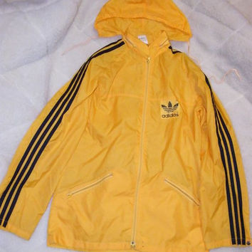 Vintage  Windbreaker Jacket 1985 Adidas Made in Philippines  80s