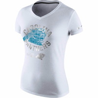 Carolina Panthers Nike Women's Platinum Performance Tri-Blend – White