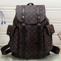 shosouvenir LV  Women Leather Bookbag Shoulder Bag Handbag Backpack