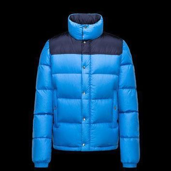Moncler Men Down Quilted Wool Coat
