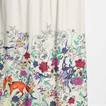 Plum & Bow Forest Critters Shower Curtain- Multi One