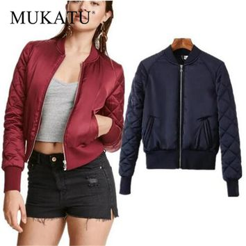 Women Winter Warm Jacket Padded Bomber Short Outerwear
