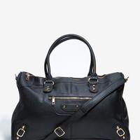 Metal Trimmed Large Weekender Bag