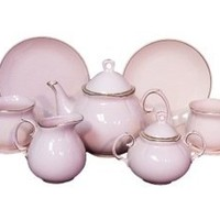 Children's Tea for Two Fine China Tea Set - Princess Pink Pattern