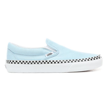 Check Foxing Slip-On Shoes | Blue | Vans