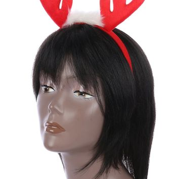 Red Reindeer Headband Hair Accessory