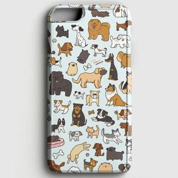 Dog Cute Husky Kawaii Corgi Pattern iPhone 8 Case