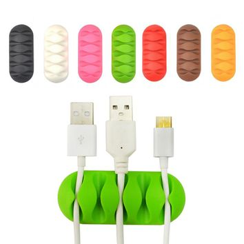 10pcs Tabletop Cable Organizer Mouse Keyboard Cord Cable Winder Computer Data lines Cable Holder Colors Randomly