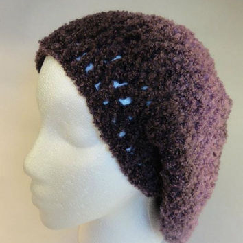 Purple Shades Slouchy Hat  Women   Fashion by toppytoppy on Etsy