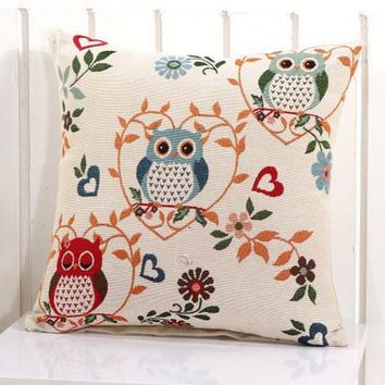 Cartoon Handmade Owl Home Decor Pillow Decorative Throw Pillows Cute Drawing 14