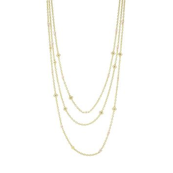 Triple Stranded Pearl Necklace