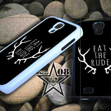 Eat the Rude Hannibal Nbc Fannibal iPhone Case, iPhone 4/4S, 5/5S, 5c, Samsung S3, S4 Case, Hard Plastic and Rubber Case By Dsign Star 08