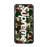 Supreme x Bape Box New Arrival Hard Plastic Back Case for iPhone 4 4s 5 5s 5C i6 6Plus