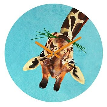 Coco de Paris Giraffe upside down Round Clock