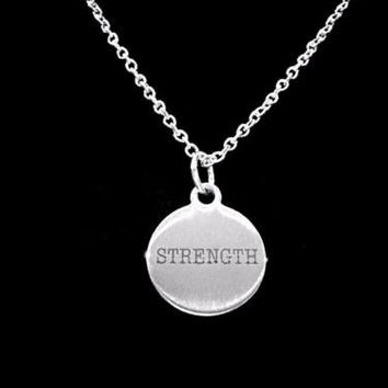 Strength Inspirational Fitness Motivational Strong Sports Gift Necklace
