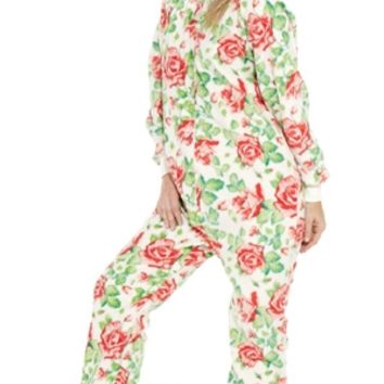 Bed of Roses - Adult Footed Pajamas | Adult Pajamas | One Piece