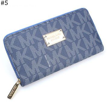 MK Michael Kors classic print women's zipper organ wallet long wallet #5