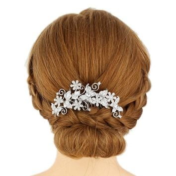 Bella Fashion Bridal Butterfly Animal Hair Comb Clear Austrian Crystal Rhinestone Hair Piece For Wedding Bridesmaid Jewelry Gift
