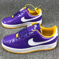 Nike Air LUNAR FORCE 1 FLYNIT WORKBOOT Fashion Casual Running Sport Shoes Sneakers Purple G-CSXY