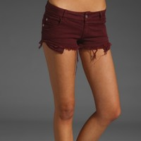 *REDUCED PRICE*Brandy Melville maroon jean shorts!