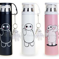 Hot Sale Baymax Thermos Cup Bonus Pendant 350/500ml Stainless Steel Thermal Insulation Thermos Vacuum Flask Travel Mug Drinkware