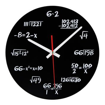 Maths Equation Modern Design Wall Clock