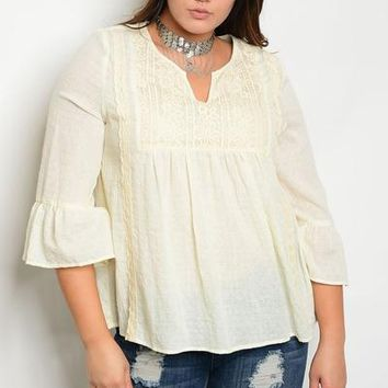 Macey Natural Boho Top