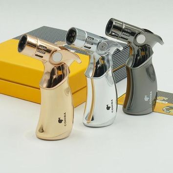 COHIBA 4 Torch Jet Flame Lighter W Gift Box