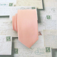 Necktie Light Peach Skinny Tie