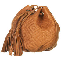 Leather Quilted Pouch Bag - Bags & Wallets  - Accessories