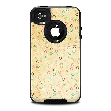 The Vintage Golden Tiny Polka Dots Skin for the iPhone 4-4s OtterBox Commuter Case