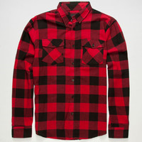 Shouthouse Lancaster Mens Flannel Shirt Red  In Sizes