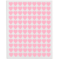 Mini Pink Heart Stickers