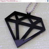 BOGO Blowout Sale Kitsch Scene BLACK DIAMOND necklace Emo